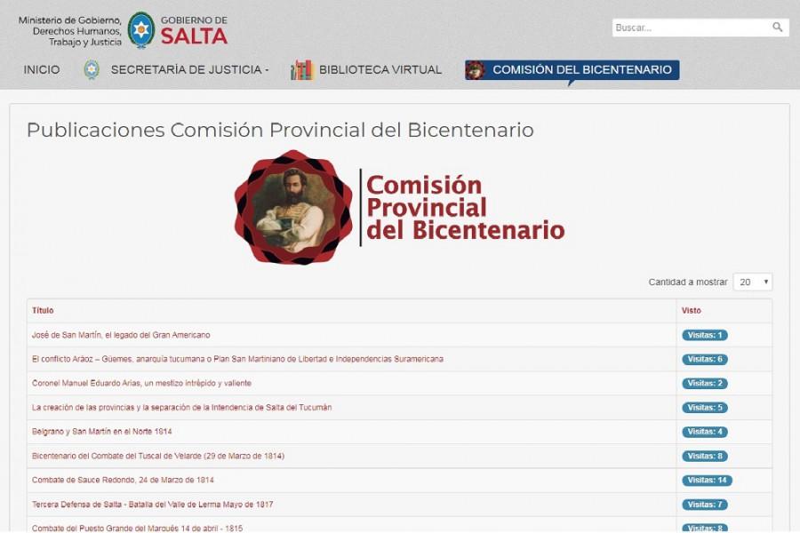 Es en el sitio: gobierno.salta.gob.ar donde los ciudadanos encontrarán material historiográfico sobre hechos trascendentales en la historia de Salta. El material es de acceso gratuito y descargable.