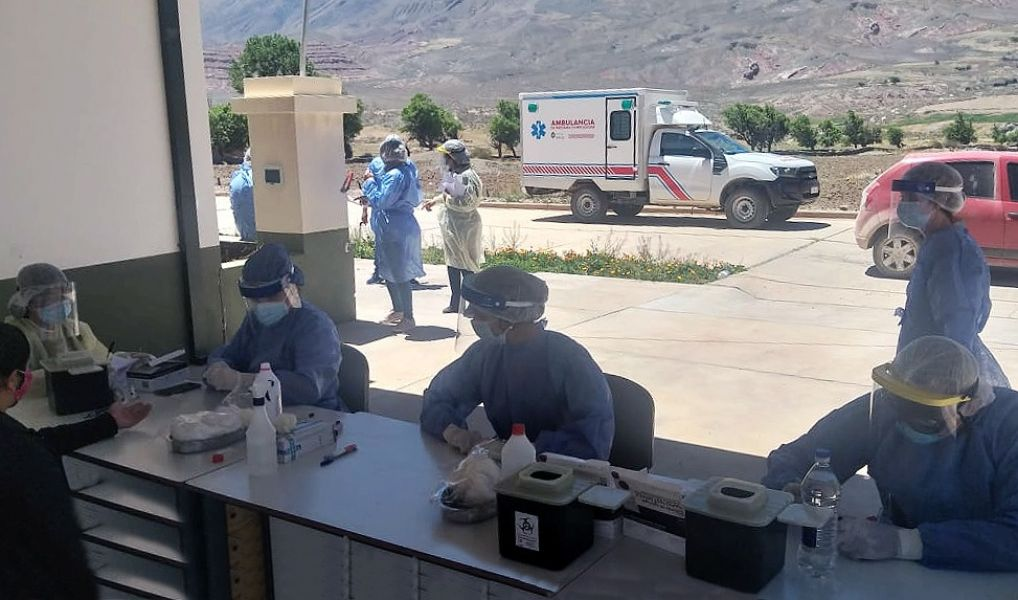 Llegaron más reactivos para continuar con los testeos en toda la provincia. Esta semana el operativo se desarrolla en el departamento Rivadavia.