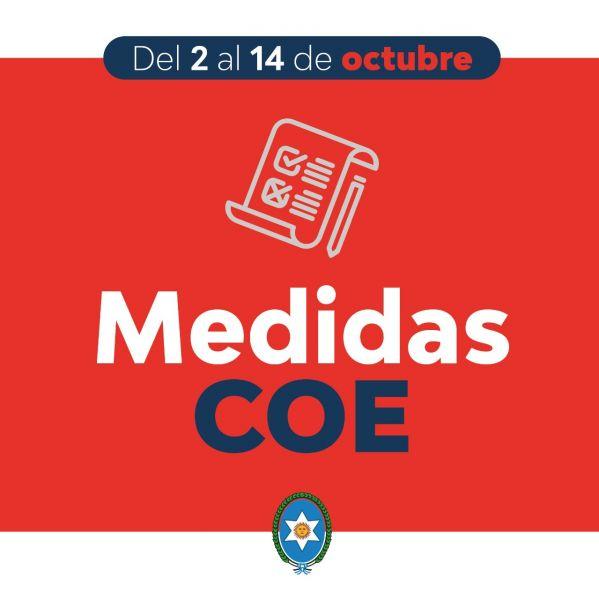 El Comité Operativo de Emergencia (COE) informa actividades habilitadas y nuevas flexibilizaciones en la Provincia, teniendo en cuenta la mejora de la situación epidemiológica de COVID-19.