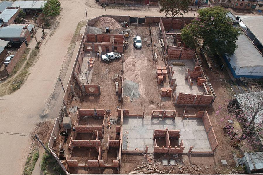 La Provincia construye un nuevo edificio de nivel inicial en la escuela 12 de Octubre de Tartagal