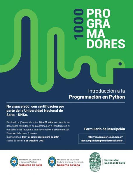 Gobierno y UNSa convocan a jóvenes a estudiar programación, un ámbito del conocimiento de rápida inserción laboral.