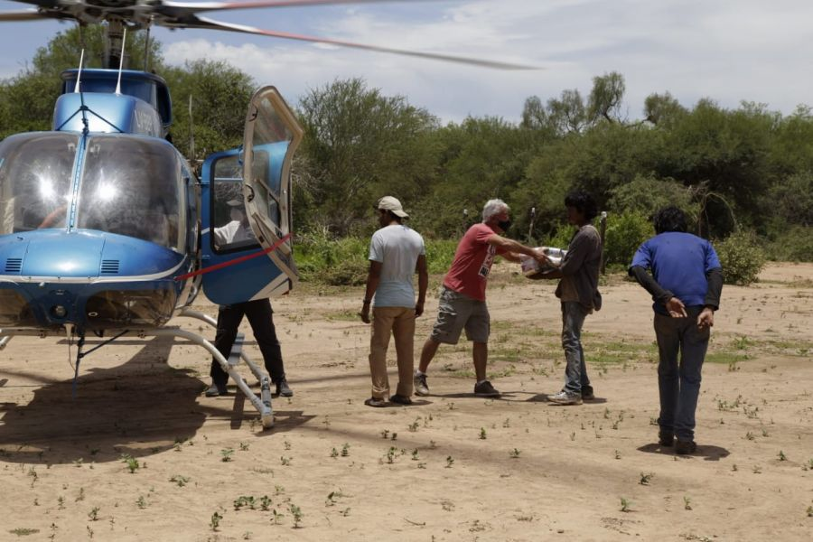 Comunidades aisladas recibieron asistencia vía aérea