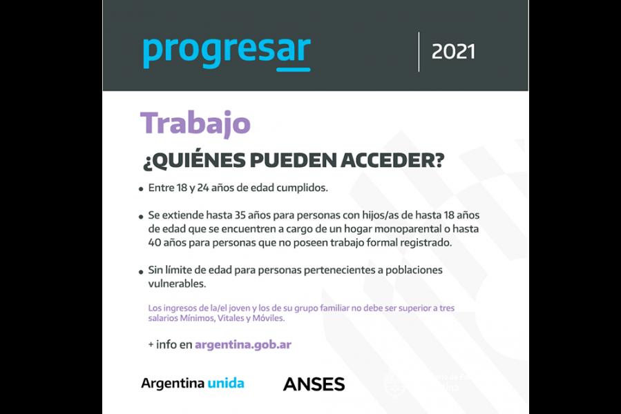 Podrán inscribirse desde la app Progresar+ ó en https://www.argentina.gob.ar/educacion/progresar