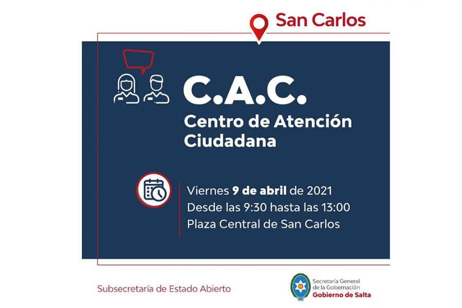 El Centro de Atención Ciudadana brindará servicios y asesoramiento en los municipios de Cafayate y San Carlos