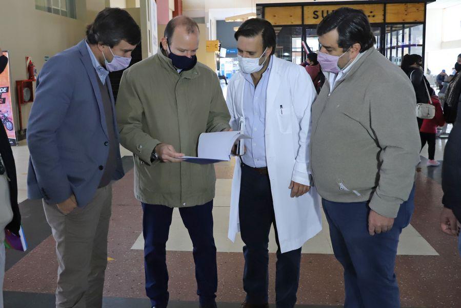 Supervisan el cumplimiento de los protocolos de bioseguridad en la Terminal de Ómnibus