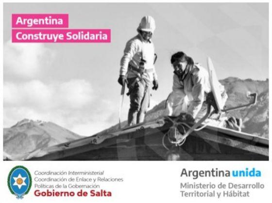 Presentarán el programa Argentina Construye Solidaria a los municipios de toda la provincia
