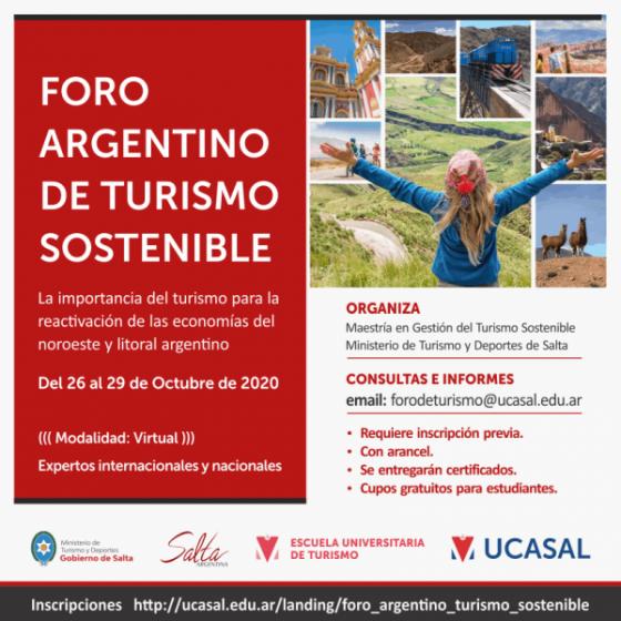 Salta organiza el Foro Argentino de Turismo Sostenible
