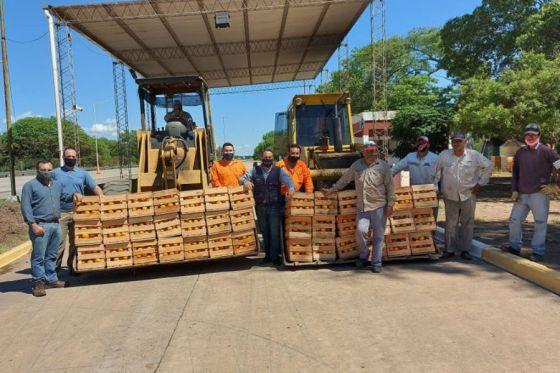 Inspectores decomisaron 9000 kilos de cítricos en el puesto de El Quebrachal