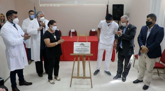 Homenajearon al médico Sergio Humacata en el hospital Señor del Milagro