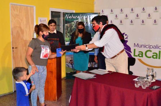 Se entregaron  casi 3 millones de pesos en créditos a microemprendedores de La Caldera