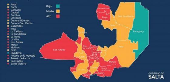 Son 14 los departamentos con alto riesgo sanitario en la provincia