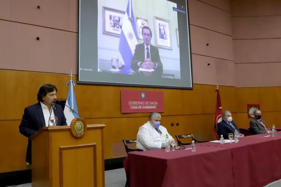 El gobernador Sáenz presentó el proyecto de ampliación del hospital San Bernardo por USD 28 millones