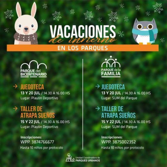 Vacaciones de invierno en los Parques Urbanos