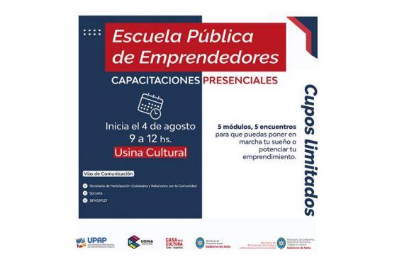 Escuela Pública de Emprendedores: en su segunda edición las clases serán presenciales
